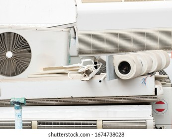 Electronic wastes or E-wastes of old air conditioners .