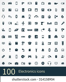 electronics 100 icons universal set for web and mobile