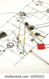 Electronics components and circuit diagram