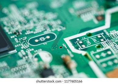 Electronics technology with bokeh science background.