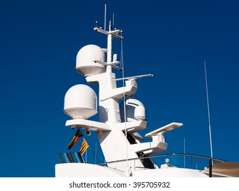 electronics tower on a luxury yacht