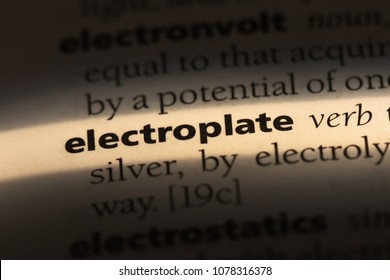 electroplate word in a dictionary. electroplate concept