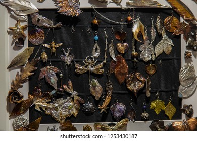 Electroplated flowers and leaves