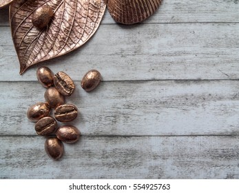 Electroplated leaf and coffee beans