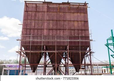 Electrostatic Precipitator during construction