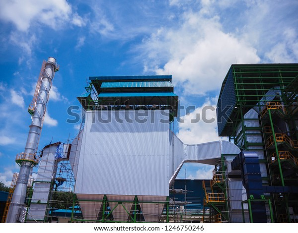 Electrostatic Precipitator Stack Biomass Power Plant Stock