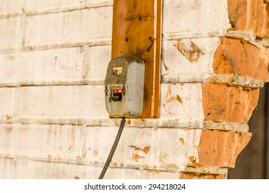 Electrotechnical industrial archeology - old electric light switch