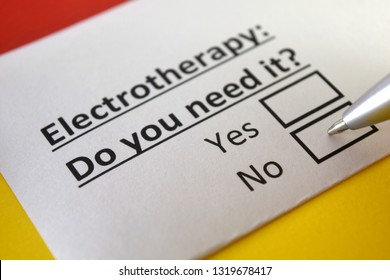 electrotherapy: do you need it? yes or no