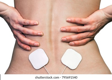 Electrotherapy for the treatment of pain in the lumbar region