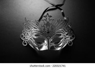 Elegance carnival mask on dark background