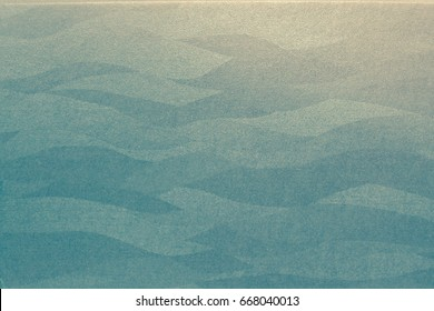 Elegant abstract background with sea color with abstract flowing lines