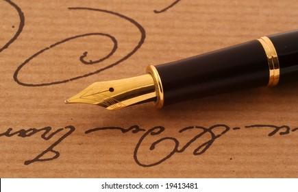 Elegant anique fountain-pen