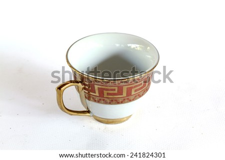 Elegant Antique China Tea Cup Saucer Stock Photo (Edit Now