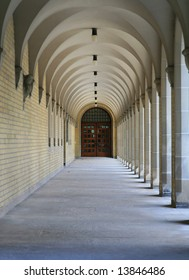 Elegant arcade in the University of Toronto, Canada