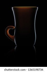 Elegant backlit liquor cup from the 70s
