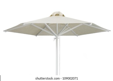 Elegant Beach Umbrella Isolated on white background