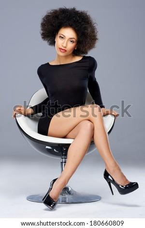 elegant beautiful african american woman black stock photo