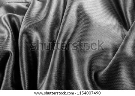 Elegant Black White Fiber Fabric Cotton Stock Photo Edit Now