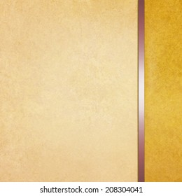 elegant blank gold beige background with sidebar template and vintage texture