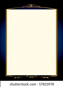 Elegant blue and gold background 1 - jpg version