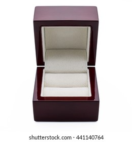 Elegant box for the ring made of wood.