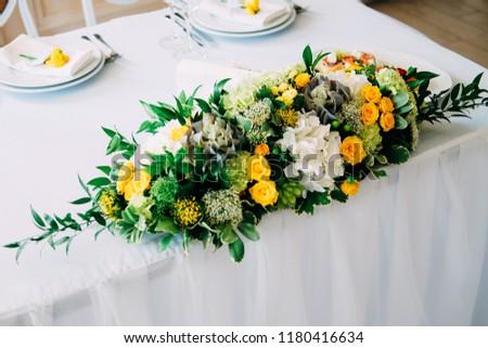 Elegant Bride Groom Table Setting Wedding Stock Photo Edit Now