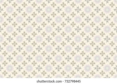 Elegant, bright and seamless neutral, gray and beige flower pattern design. It can be used on mug prints, baby apparels, wallpaper, wrapping boxes etc. Raster.