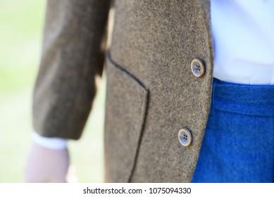 elegant brown jacket