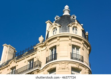 Elegant Building In Paris And Blue Sky