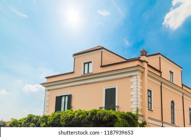 Elegant building in world famous Sorrento, Amalfi coast. Campania, Italy