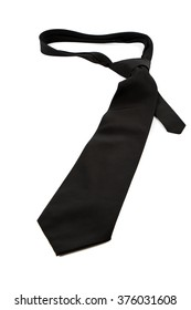 elegant casual black neck tie on white