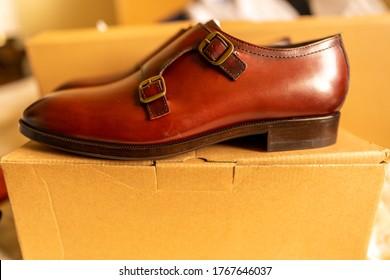 Elegant classy men's formal shoes, brown leather | Men fashion | Online shopping