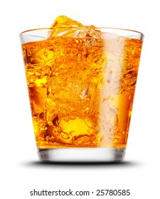 elegant cocktail glass isolated on white background