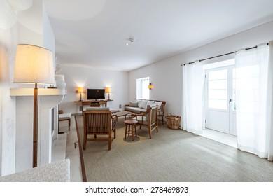 Elegant and comfortable living room interior