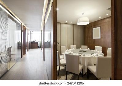 Elegant comfortable restaurant interior