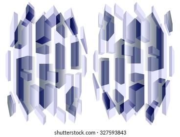 Elegant   delicate  unique  colorful   modern   geometric    abstract design superimposed  on a  subtle blurred white    background ideal for stunning  wallpapers  and chic backgrounds.