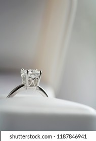 Elegant diamond ring in the box
