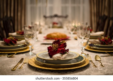 Elegant Dinner Setting - Fancy Dining Room Table Set