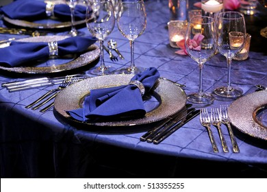 The elegant dinner table decoration