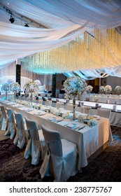 The elegant dinner table.,Table setting for an event party or wedding reception
