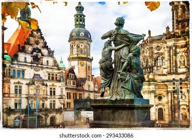 elegant Dresden - artwork in painting style