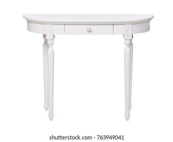 Elegant dressing table isolated over white, with clipping path
