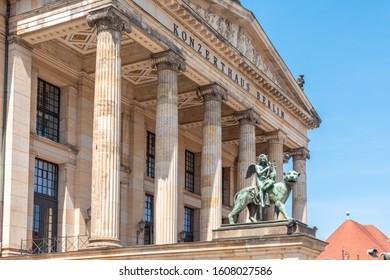 Elegant facade of the Konzerthaus Berlin (Berlin Concert House)