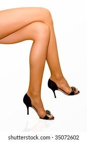 Elegant female feet