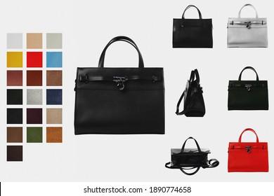 Elegant feminine handbag in the design of the women's catalog