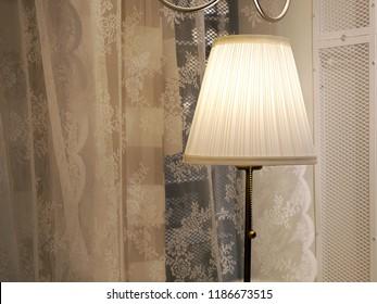 Elegant floor lamp in room