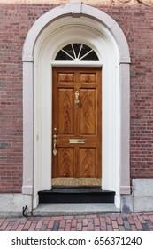Elegant front brown door