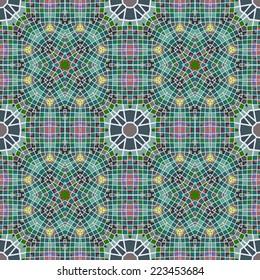 Elegant geometric seamless pattern with rectangular triangular shapes, raster graphics.