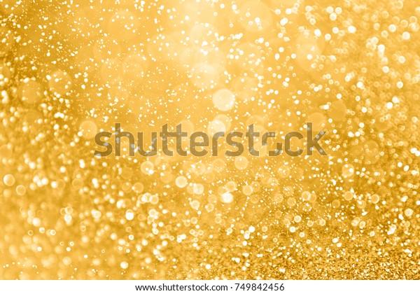 Elegant Gold Glitter Sparkle Confetti Background Stock Photo Edit Now 749842456