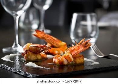 elegant grilled shrimps